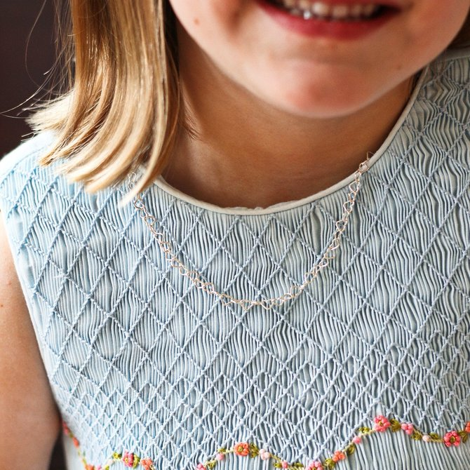 Donohue Collection Little Hearts Necklace Silver