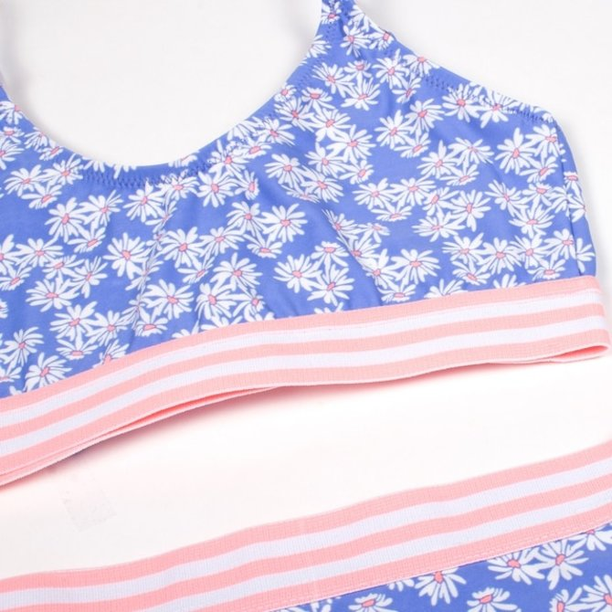 Shade Critters Tie Back Bikini- Blue Daisy