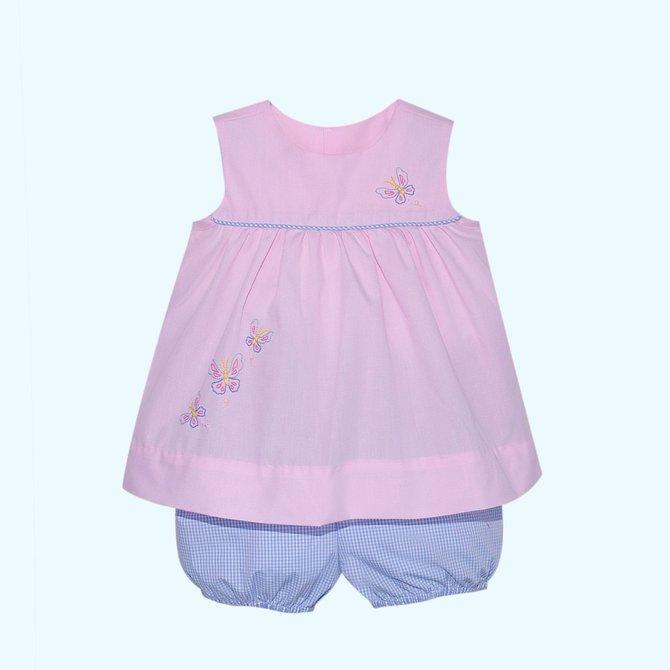 Remember Nguyen Pink Butterflies Bloomer Set
