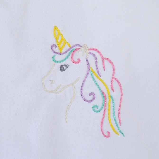 Remember Nguyen White/Purple Unicorn Bloomer Set