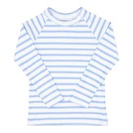 Minnow Swim Blue Ticking Stripe Rashguard