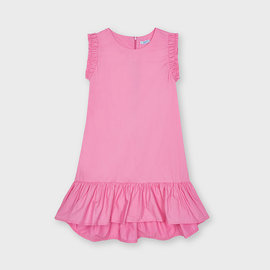 Mayoral Pink Poplin Dress