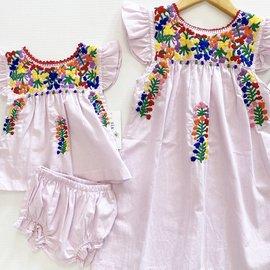 Six Honeybees Flutter Sleeve Puebla Dress