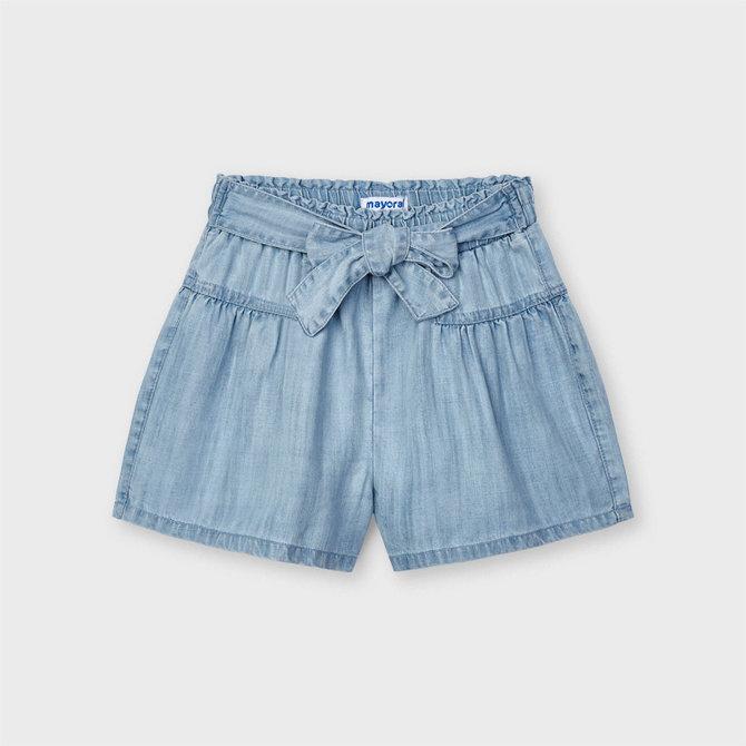 Denim Tie Shorts