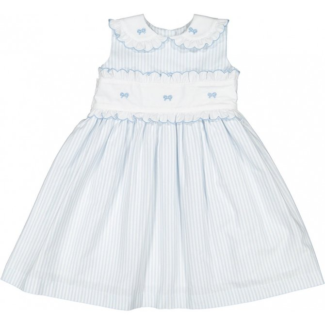 Sal and Pimenta Periwinkle Embroidered Dress