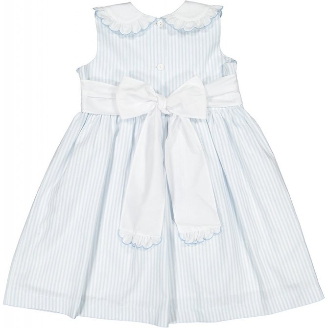 Sal & Pimenta Periwinkle Embroidered Dress