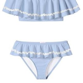 Stella Cove Blue Draped Bikini with White Ric Rac