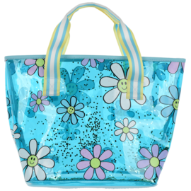 Iscream Daisies Clear Tote Bag