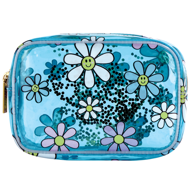 Iscream Daisies Clear Cosmetic Bag