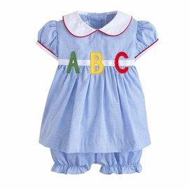 Little English Marisa ABC Peter Pan Bloomer Set