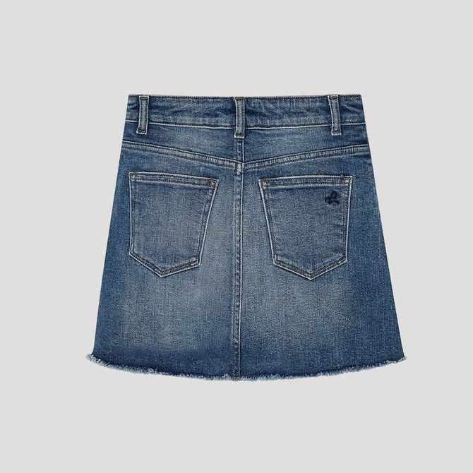DL1961 Jenny Mini Skirt Blue Rose