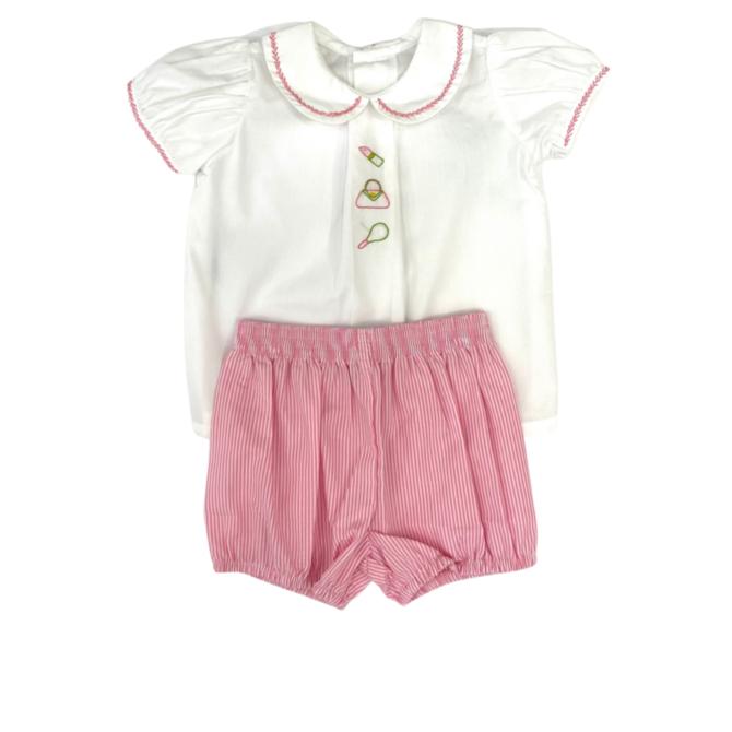Baby Sen Pink All Glamour Bloomer Set