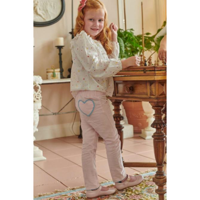 Bella Bliss Heart Pocket Lulu Pant Blush Cord