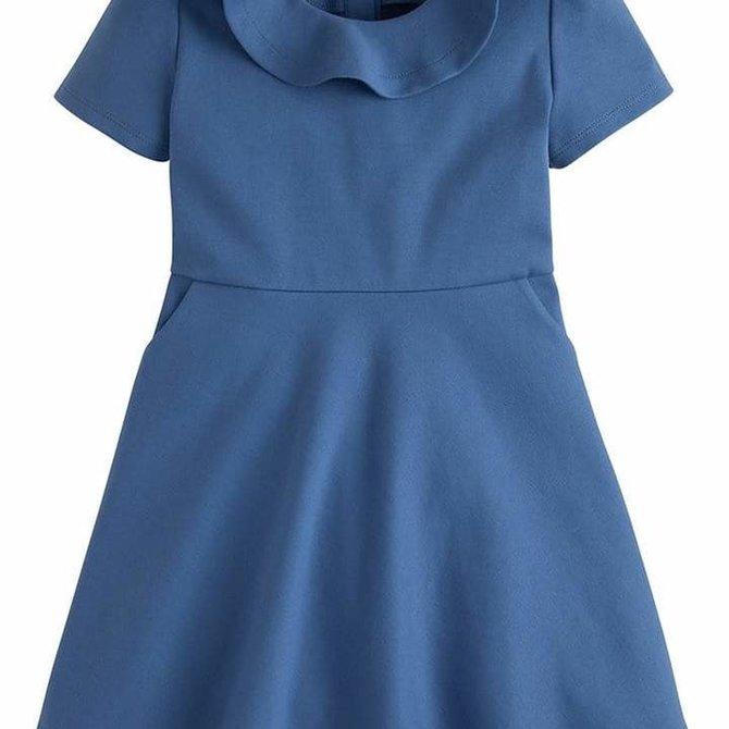 Little English Joy Dress- Stormy Blue