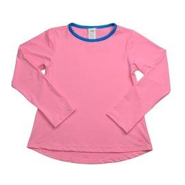 SET Athleisure Long Sleeve Bridget Basic T- Pink w/ Royal