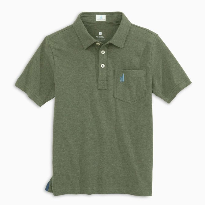Johnnie-O The Original Jr.  Polo Heathered Pine