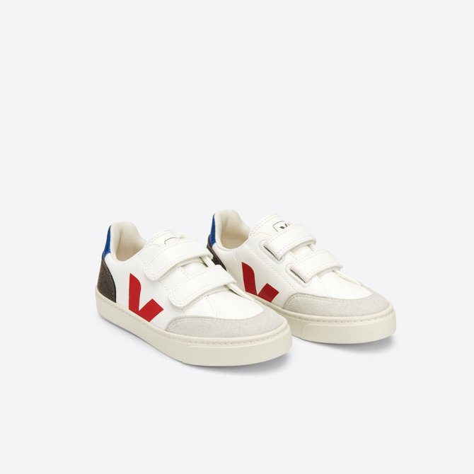 Veja Kid Sneaker Velcro Chrome White Multico MUD
