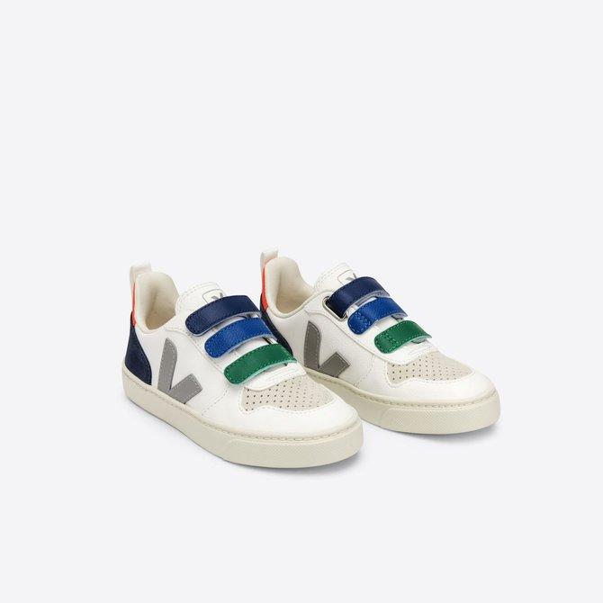 Veja Junior Sneaker Three Velcro Strap Multi Green/Blue