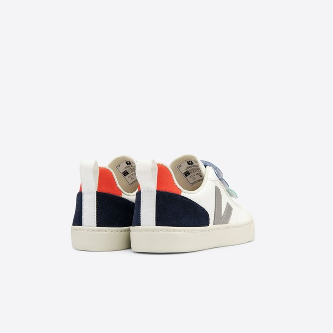 Veja Kid Sneaker Three Velcro Strap Multi Green/Blue