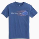 Southern Tide Youth Heather Swooshing Skipjack Tee