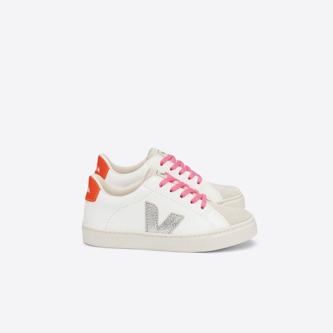 Veja Junior Sneaker Laces White/ Silver/ Orange