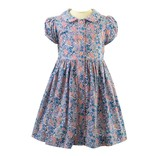 Rachel Riley Winter Floral Button Front Dress