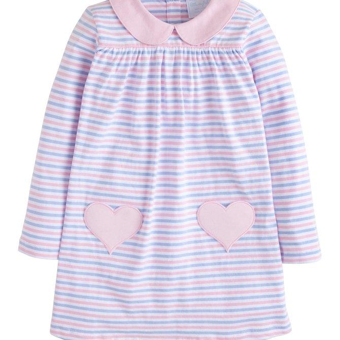 Little English Breton Dress - Hearts
