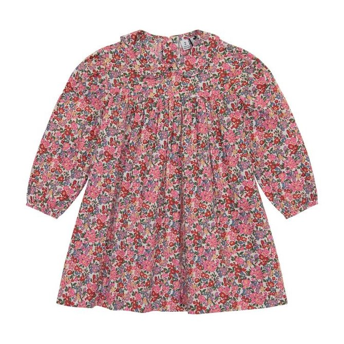 Busy Bees Ginny Peter Pan Collar Dress- Multi Floral