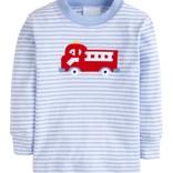 Little English Applique T-Shirt - Fire Truck