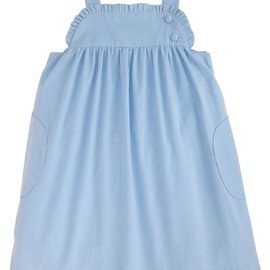 Little English Ruffled Jumper- Light Blue Corduroy
