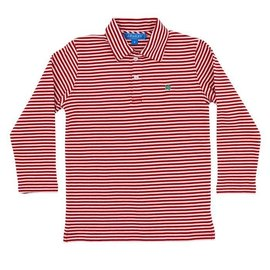 J. Bailey Longsleeve Striped Polo - Red/White