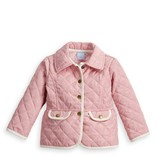 Bella Bliss Quilted Peplum Coat Pink