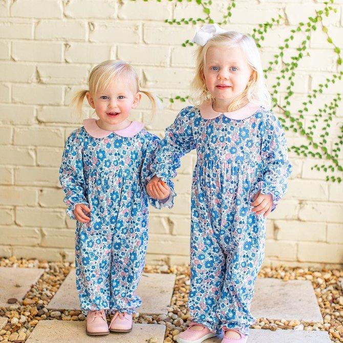 Grace & James Lily Floral Knit Romper