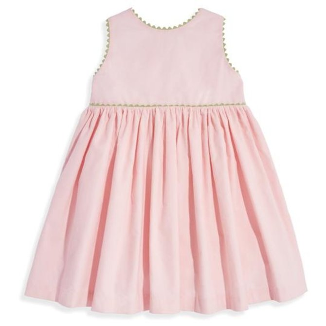 Bella Bliss Button Back Dress- Blush Cord