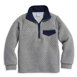 Quilted Pullover- Grey