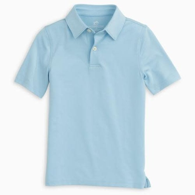Southern Tide Youth Driver Performance Polo- Sky Blue