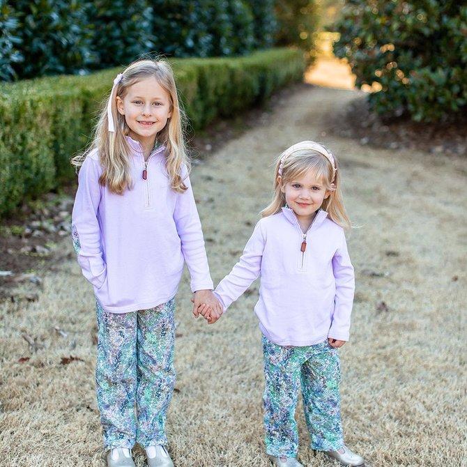 Grace & James Evie Floral Half Zip Pullover