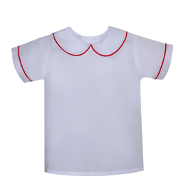 Remember Nguyen Red Piped Boy Knit Shirt