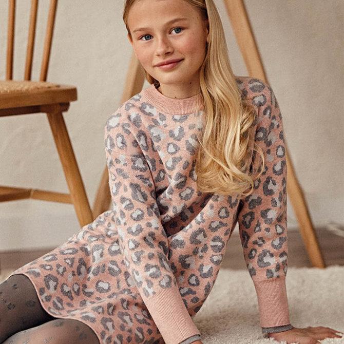 Mayoral Mayoral Leopard Sweater Dress