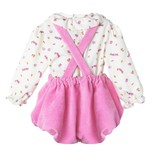 Sophie & Lucas Candy Cord Scallop Overall