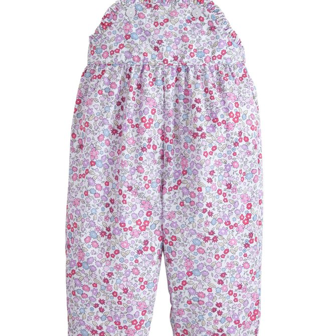 Little English Ruffled Overall - Royal Garden Floral