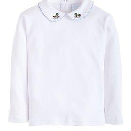 Little English Pinpoint Shirt Long sleeve - Mallard