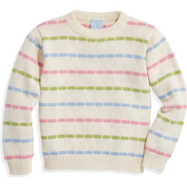 Bella Bliss Rainbow Sweater Pullover Pastel Stripes