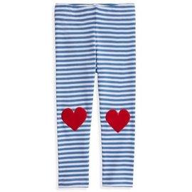 Bella Bliss Striped Applique Leggings- Hearts