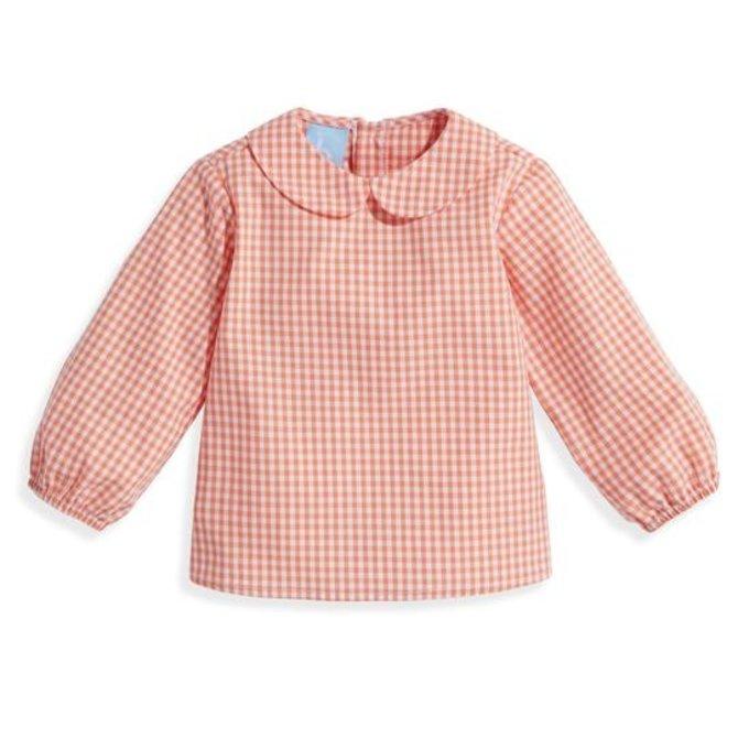 Bella Bliss Thomas Shirt- Orange Check