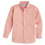 Bella Bliss Buttondown Shirt- Orange Check