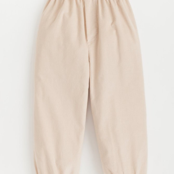 Little English Boys Banded Pull on Pant Tan