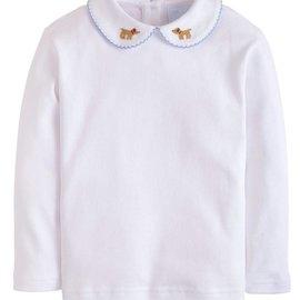 Little English Pinpoint Shirt Longsleeve - Lab
