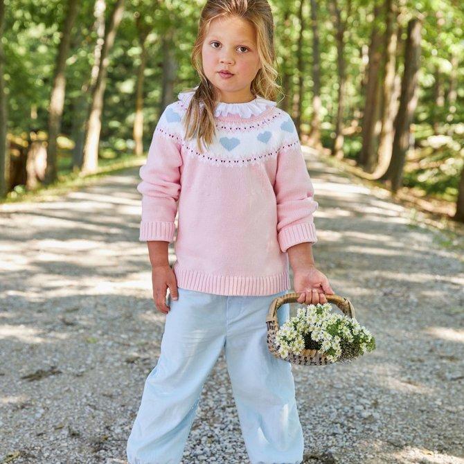 Little English Hearts Fair Isle Sweater