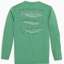 Southern Tide LS Spotted Trout Perf Tee